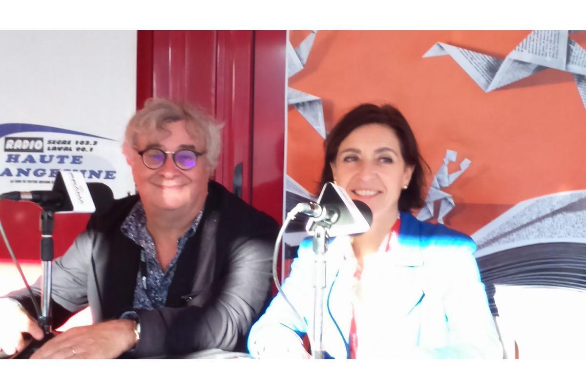 Thierry Hubert (président de la 25eme heure du livre) et Agnès Besnard (adjointe à la culture du Mans)