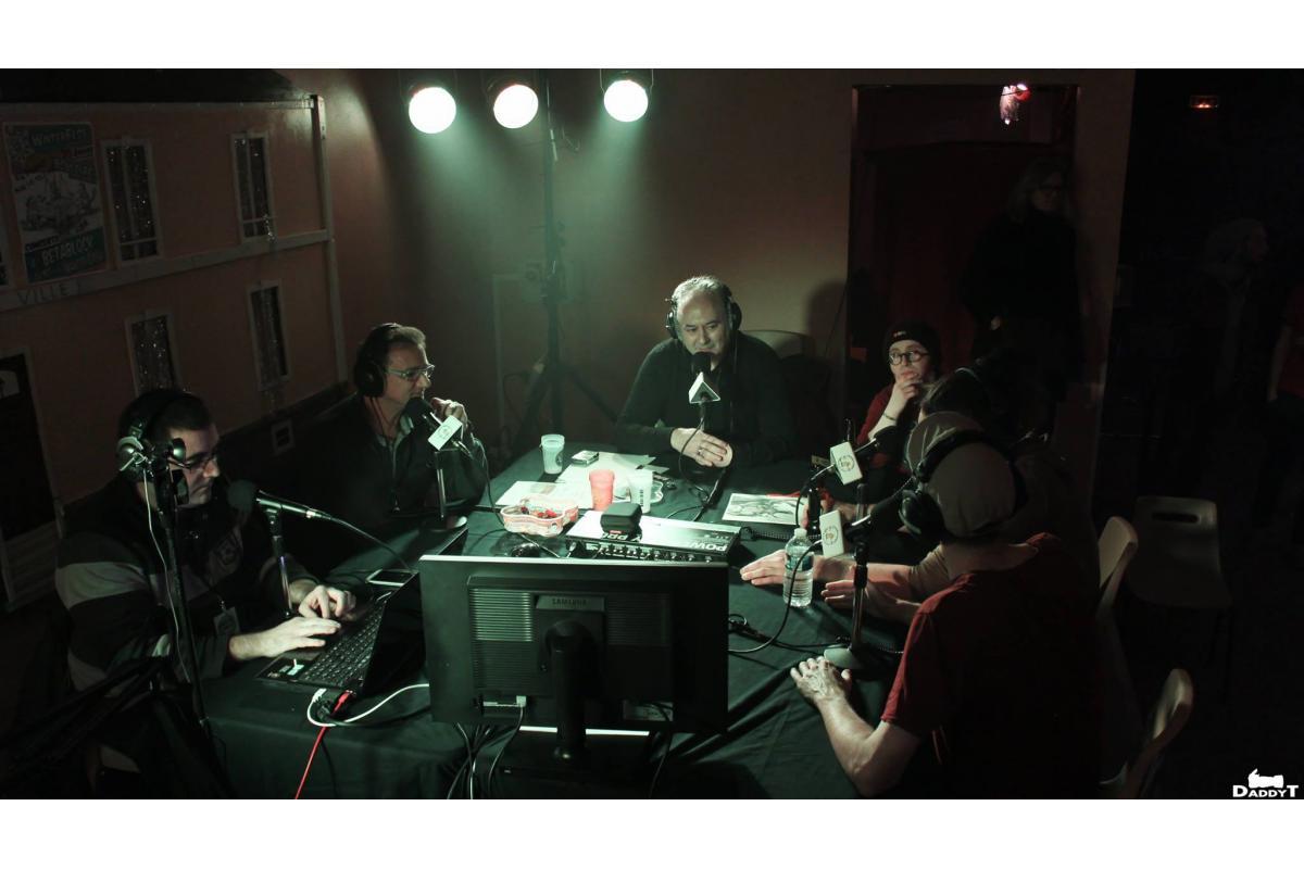 Le studio de la radio au Winterfest #1