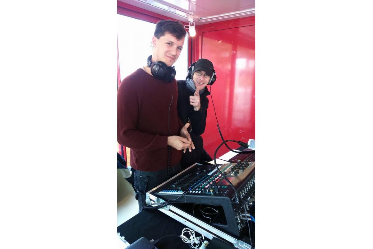 Les teckos, Arthur (Radio Alpa) et Fred (Ornithorynque)