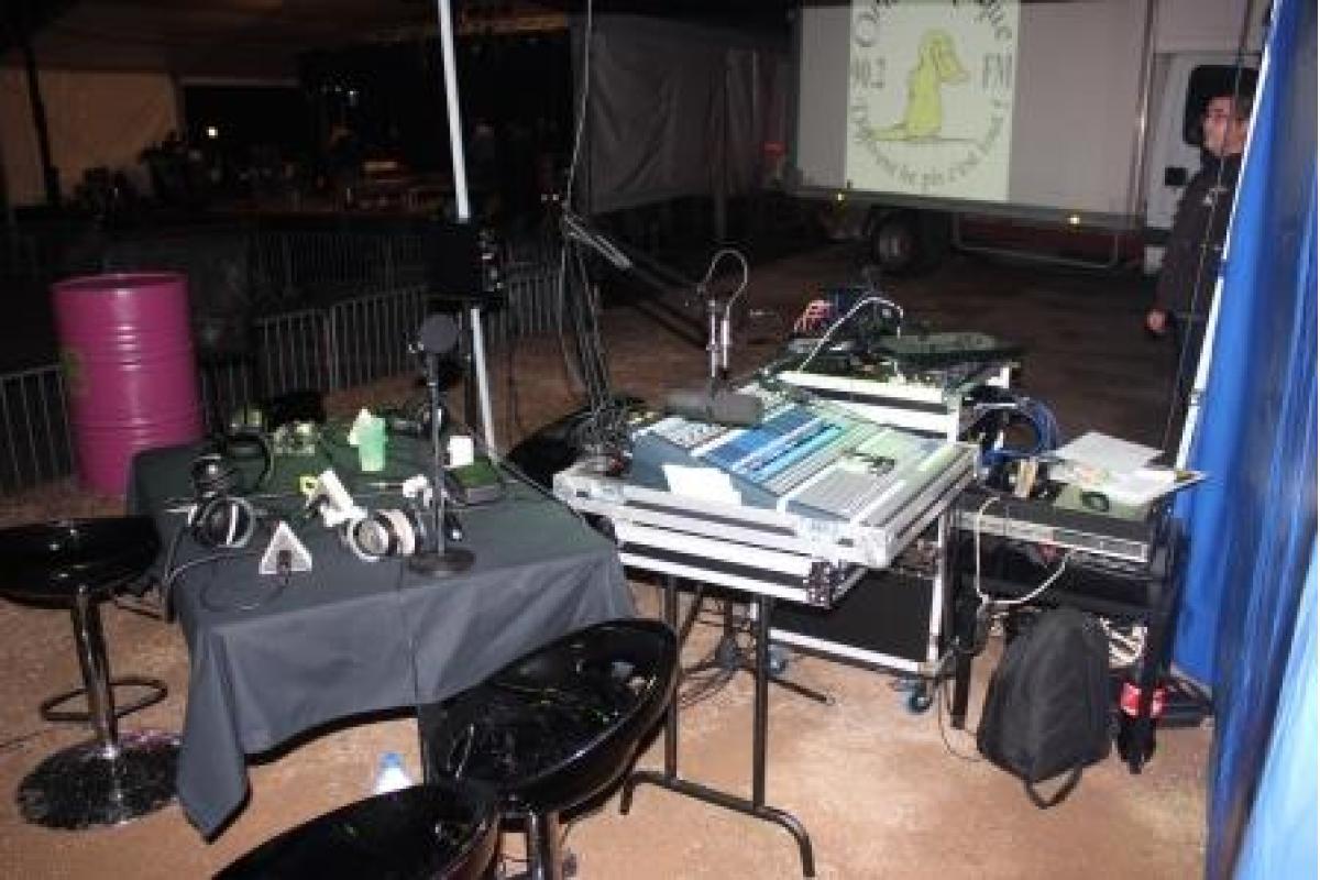 Studio mobile de la radio