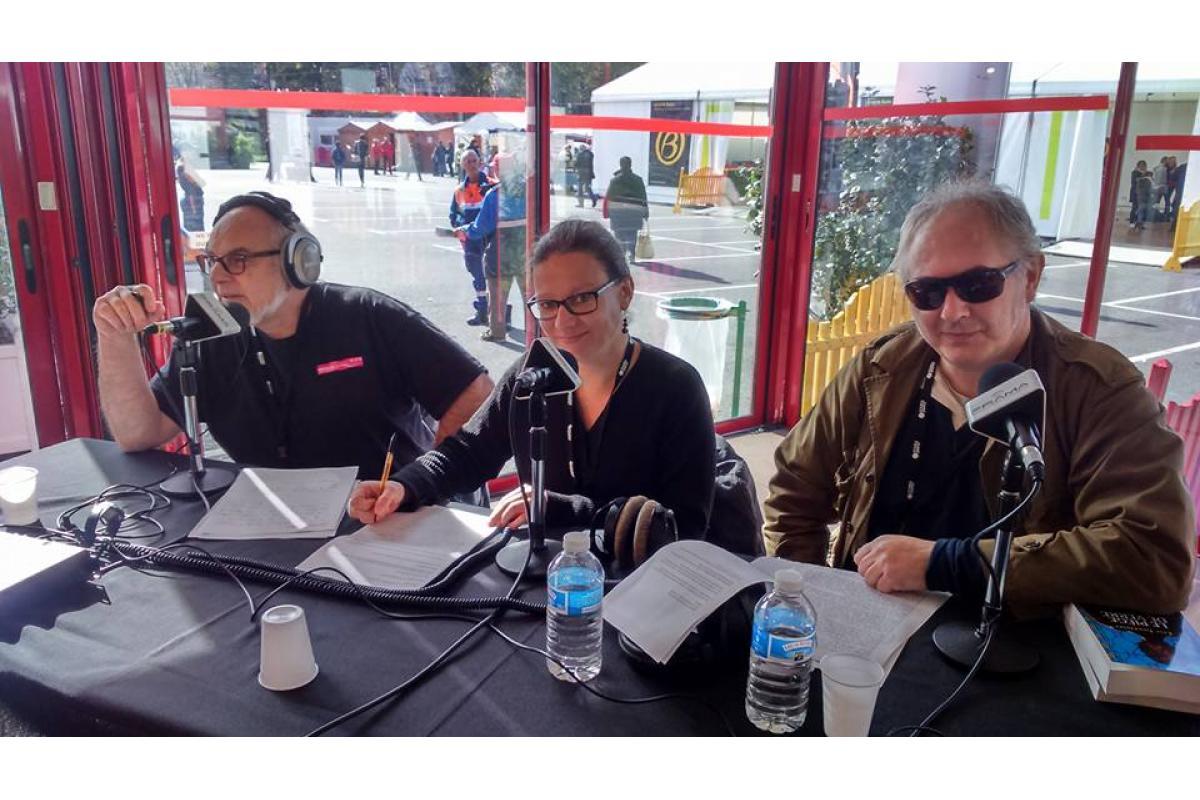 Eric Lucas (Fréquence Sillé), Delphine (Radio Alpa), Patrice Dolo (Ornithorynque)